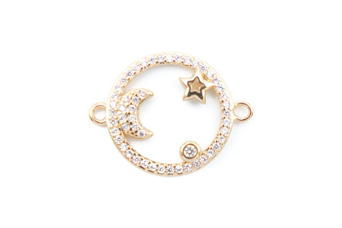 Moon and Star Connector - (1 count)