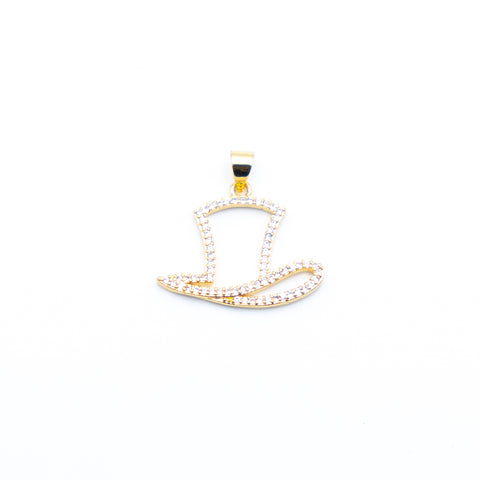Hat Charm 25 mm - (1 count)