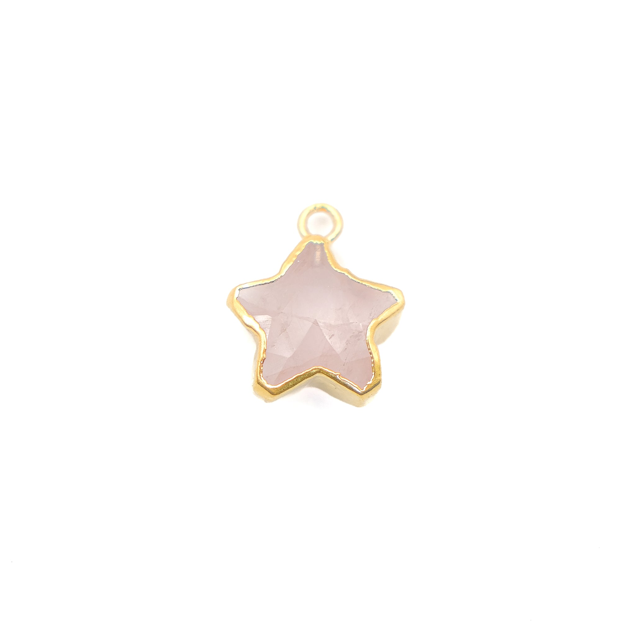 Rose Star - S-Mini Star Natural Stones 11mm - (1 count)