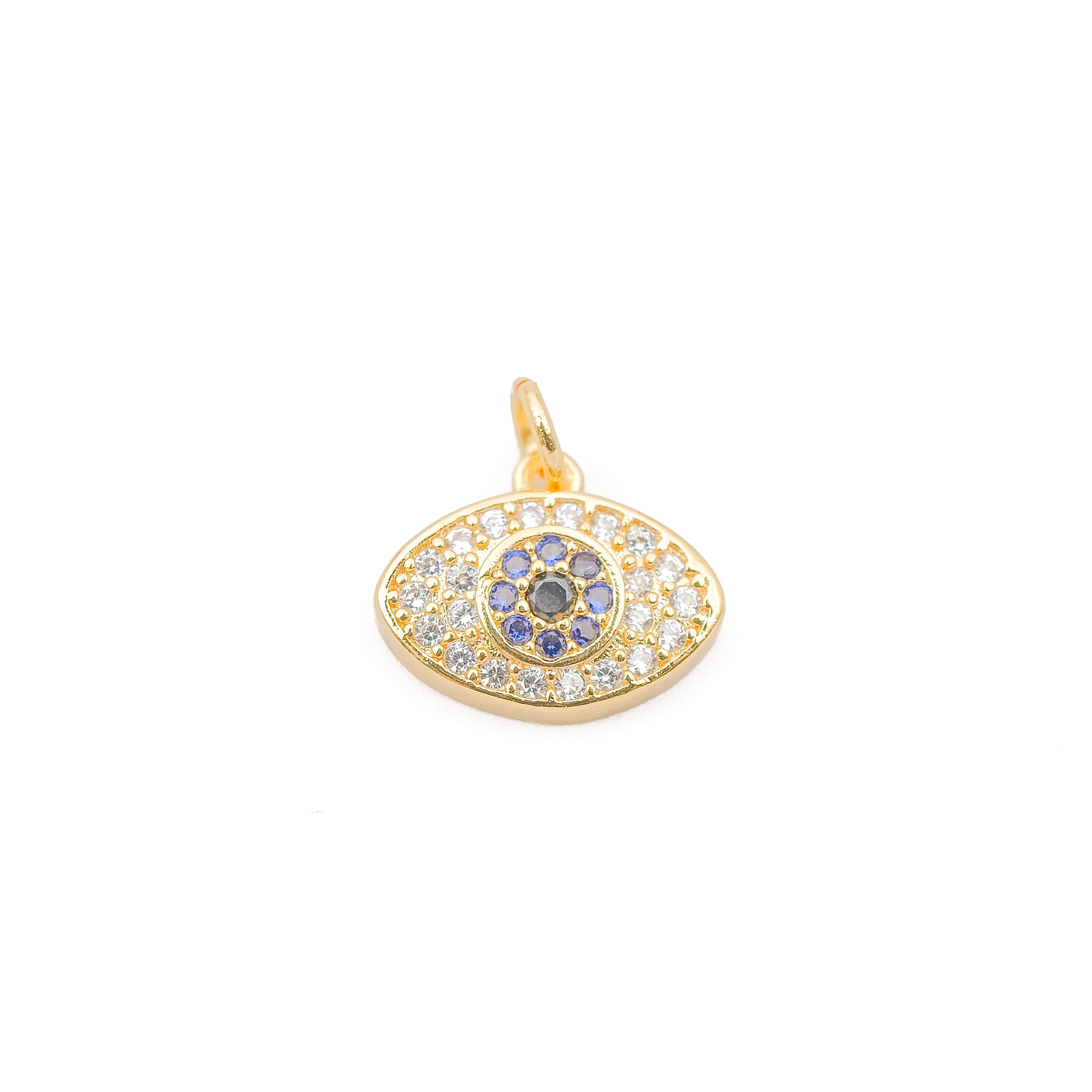 Clear Evil Eye Gold