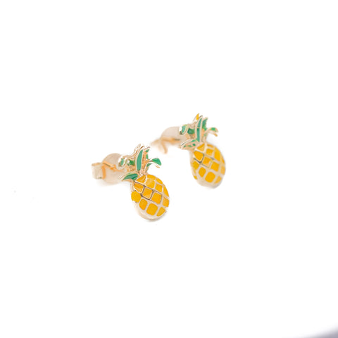 Pinneaple Enamel Earrings