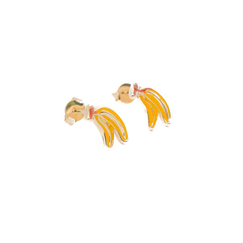 Banana Enamel Earrings