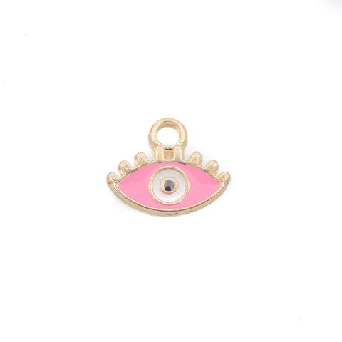 Evil Eye Hot Pink Enamel
