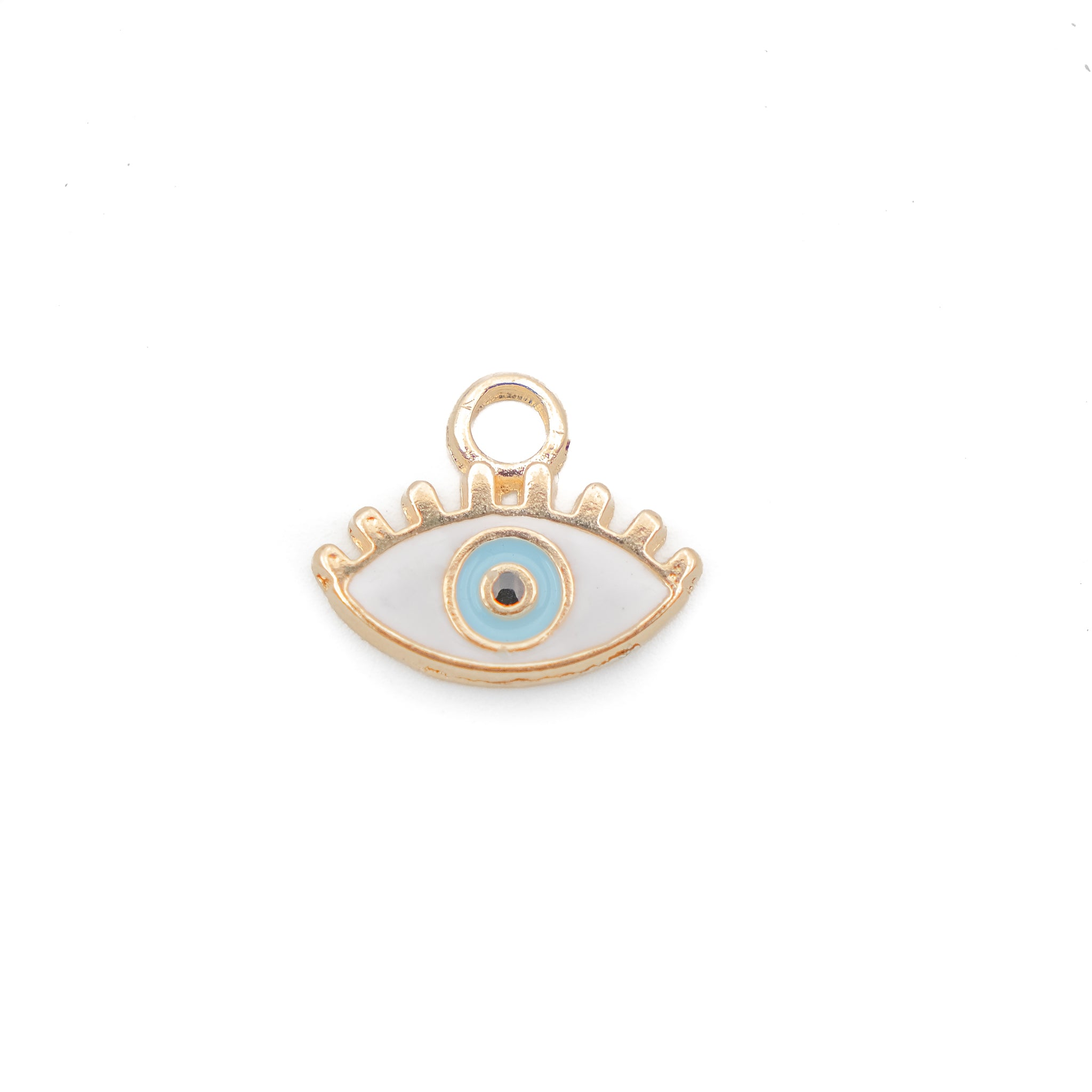 Evil Eye white Enamel