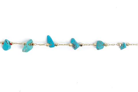 Chain #181 by ft - Turquoise - Natural Stones