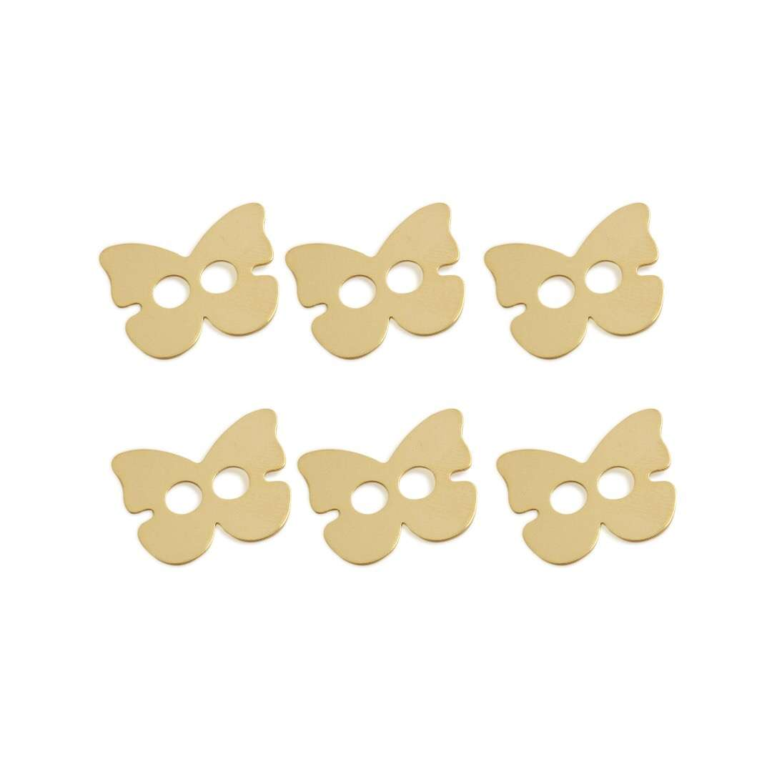 Butterfly Button - 6 pcs