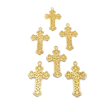Cross Filigree - 6 pcs