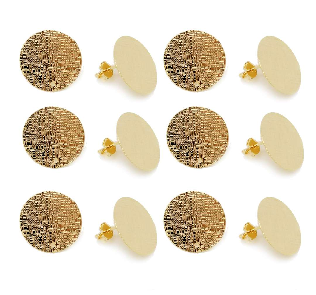 Earring Texturized 18mm - 6 pcs