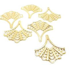 Fan Shape Earring - 6 pcs