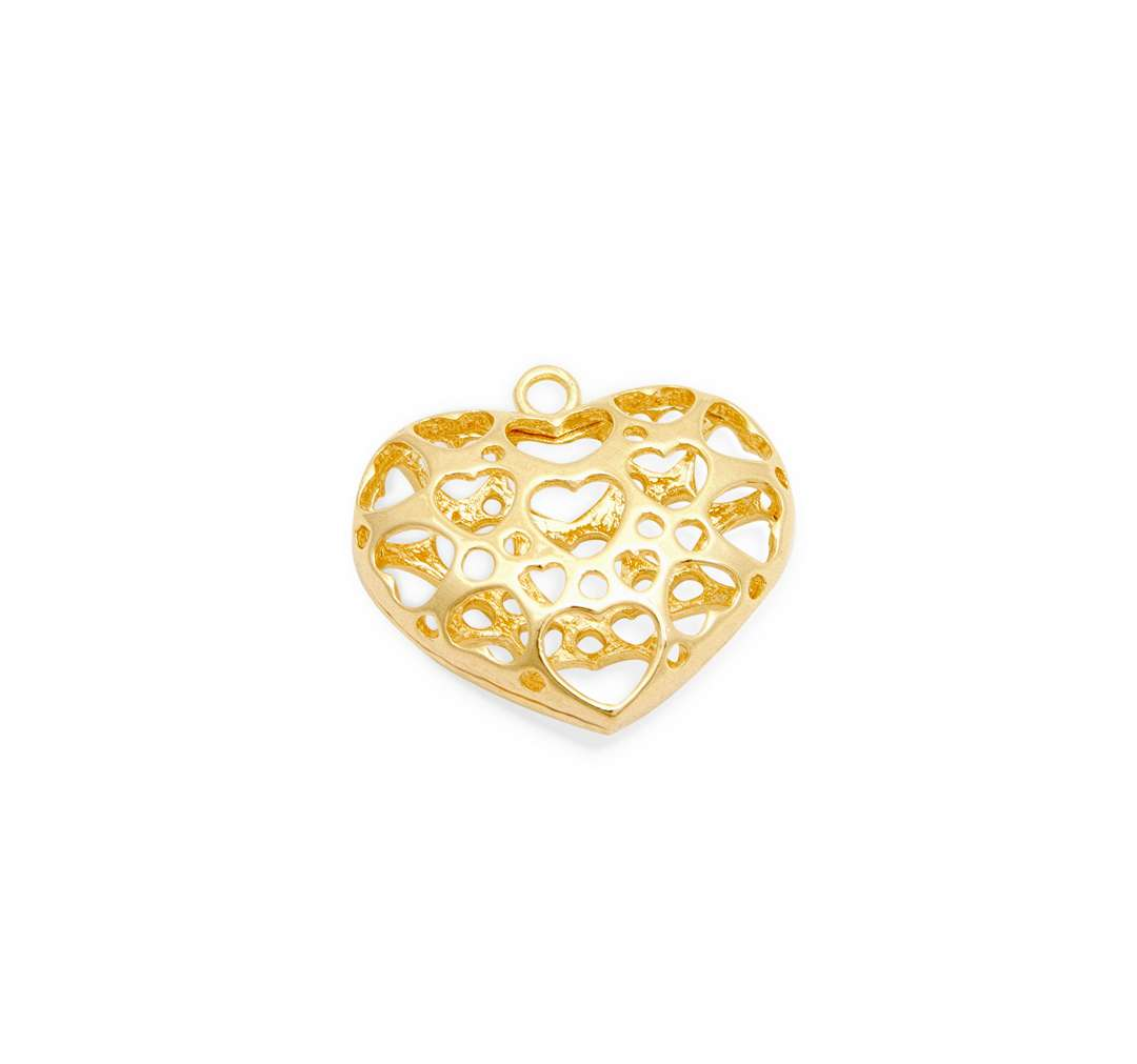 Heart Pendant - 6 pcs