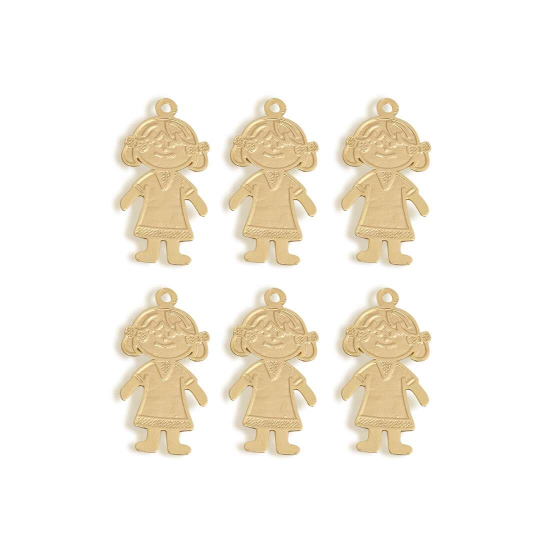 Girl Pendant - 6 pcs