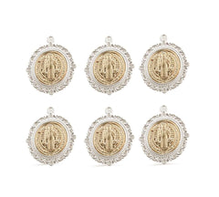 St Benedict Silver & Gold - 6 pcs