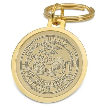 Gold Tone Plated Medallion Key Ring
