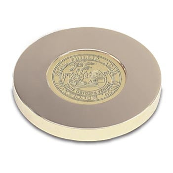 Gold Tone Medallion Paper Weight