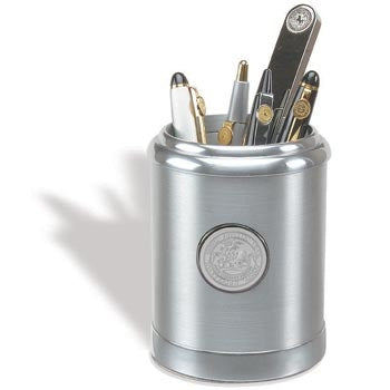 Brushed Finish Solid Aluminum Pencil Caddy