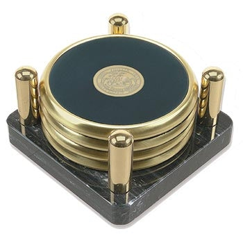 Brass Tone Coaster Set of 4