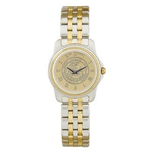 Ladies Two-Tone Medallion Wristwatch Gold Face