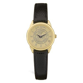Ladies Gold Plated Medallion Wristwatch