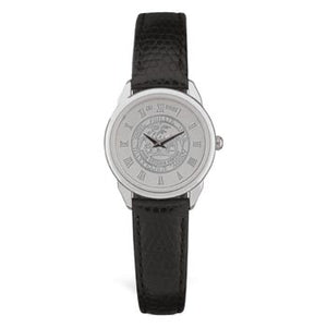 Ladies Silver Tone Medallion Wristwatch