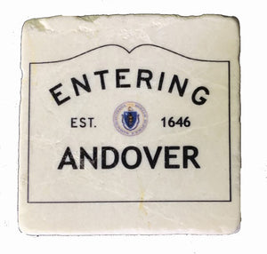 Entering Andover Marble Magnet