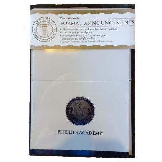 Phillips Academy Formal Announcements