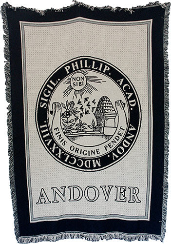 BACK IN STOCK!!  Fringed Blanket with School Seal