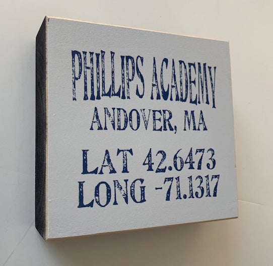 NEW! Phillips Academy Wood Block
