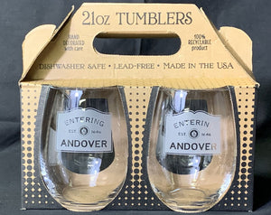 Entering Andover Stemless Wine Glass Set of 2
