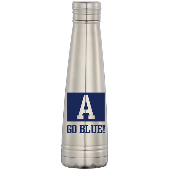 Go Blue Stainless Steel Bottle