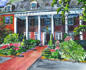 The Inn Watercolor Print