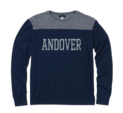 NEW! Andover Contrast Crew Long Sleeve Tee