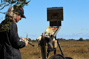 Plein Air Painting the Assateague Back Country - DAY 1