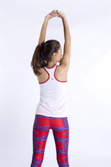 Red Force Cropped Tights
