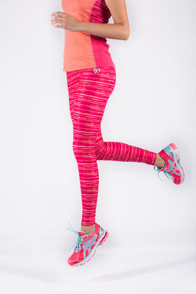 Pink Waves Running Tights