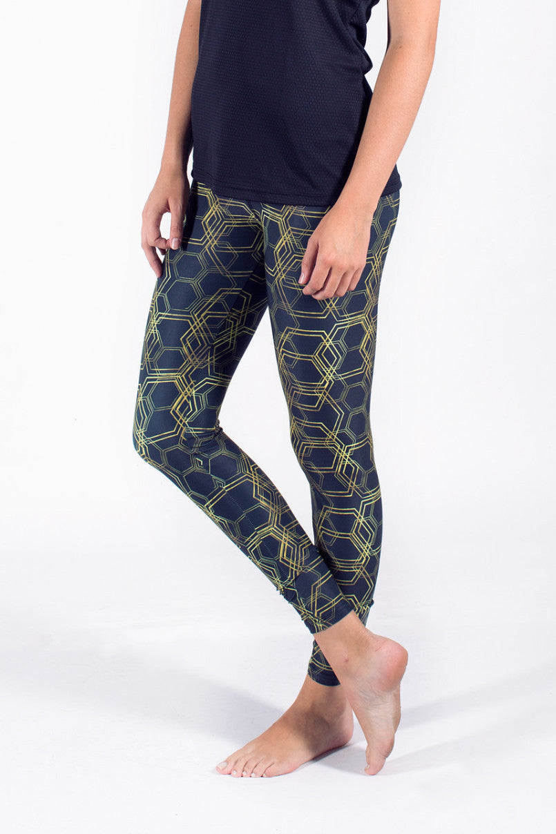 training running printed leggins