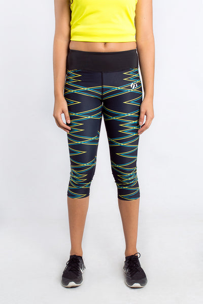 Black Force Cropped Training Tights