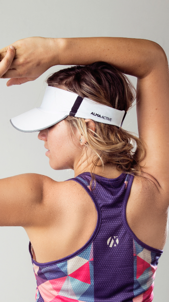 White Running Visor