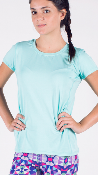 Light Blue Women's Running Shirt