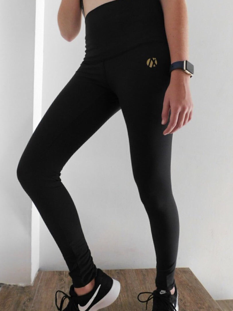 Black Compression Long Tights