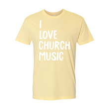 Load image into Gallery viewer, I Love Church Music Premium Adult Tee