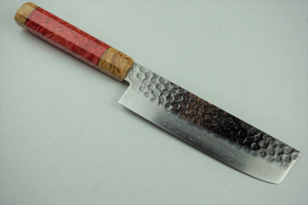 Tsunehisa 45 Layer Damascus VG10 165mm Nakiri Custom #4