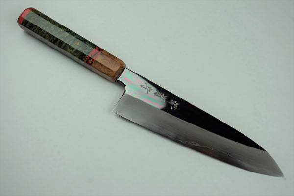 Sakai Kikumori Shiraki Hamono 180mm Santoku Mirror Polished Custom #2
