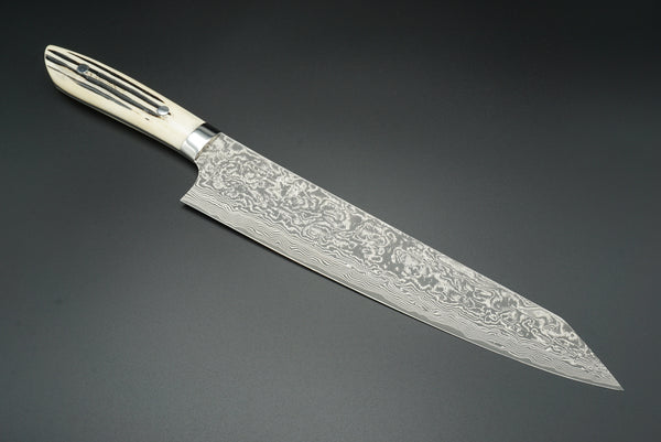 Takeshi Saji Staghorn R2 Black Damascus 270mm Kiritsuke