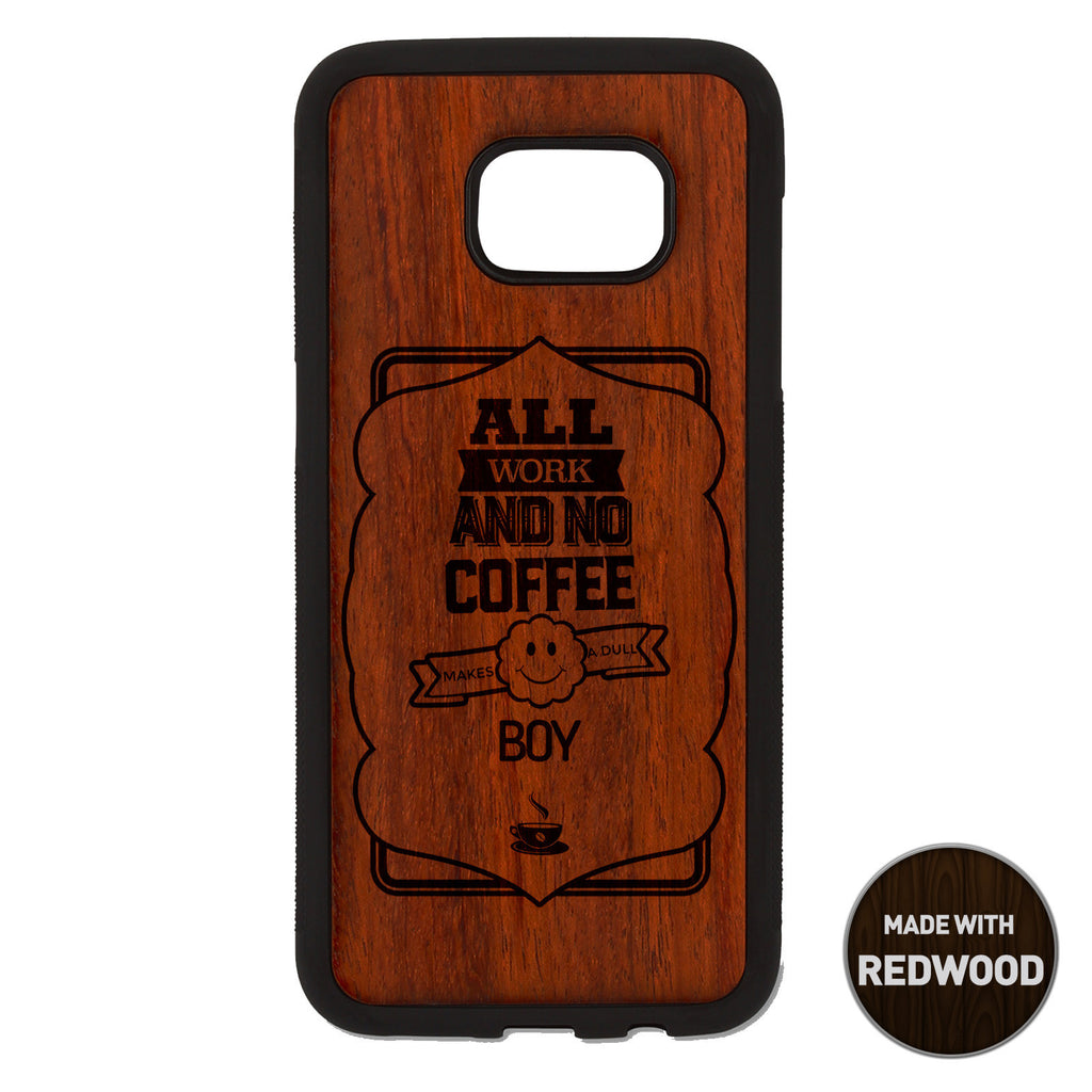 All Work And No Coffee Wooden Phone Case / The Coffee House Collection iPhone case - iWood inc