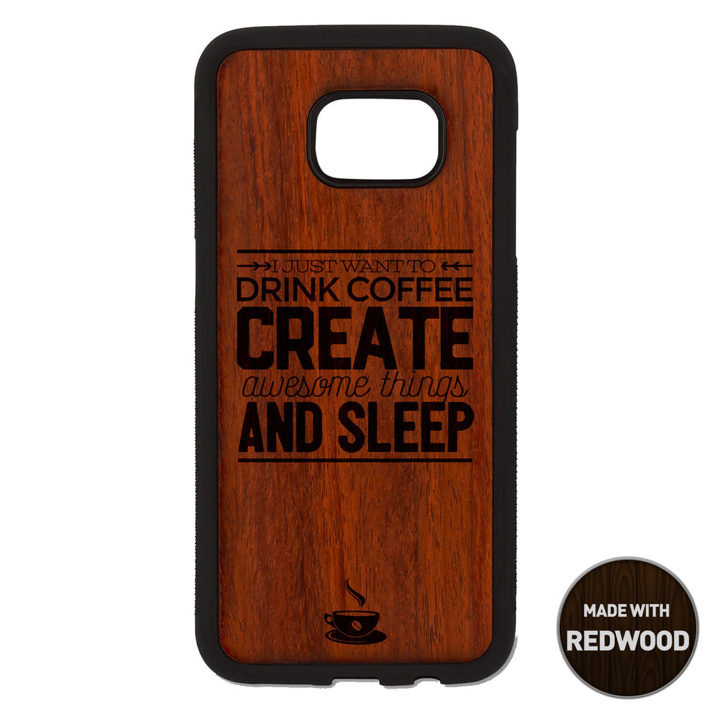 I just want to drink coffee Wooden Phone Case / The Coffee House Collection Phone case - iWood inc