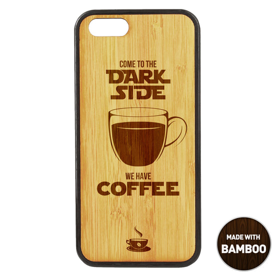 Come to the dark side Wooden Phone Case / The Coffee House Collection iPhone case - iWood inc