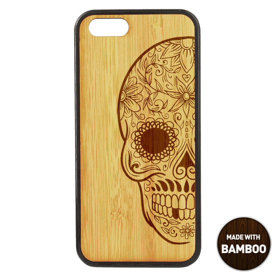 Floral Sugarskull Wooden Phone Case / Other Collections iPhone Cases - iWood inc