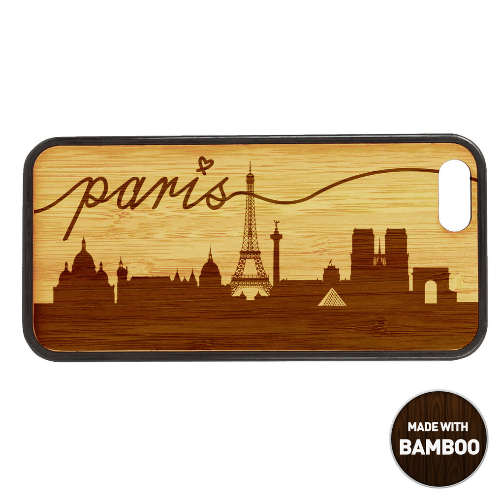Paris Skyline Wooden Phone Case / Skyline Series iPhone case - iWood inc