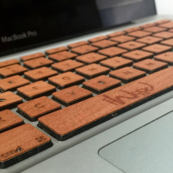 Real cherry wood MacBook Keyboard Skin KeyBoard - iWood inc
