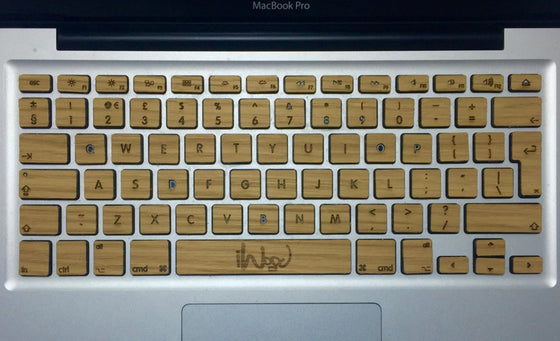 Real oak wood MacBook Keyboard Skin KeyBoard - iWood inc